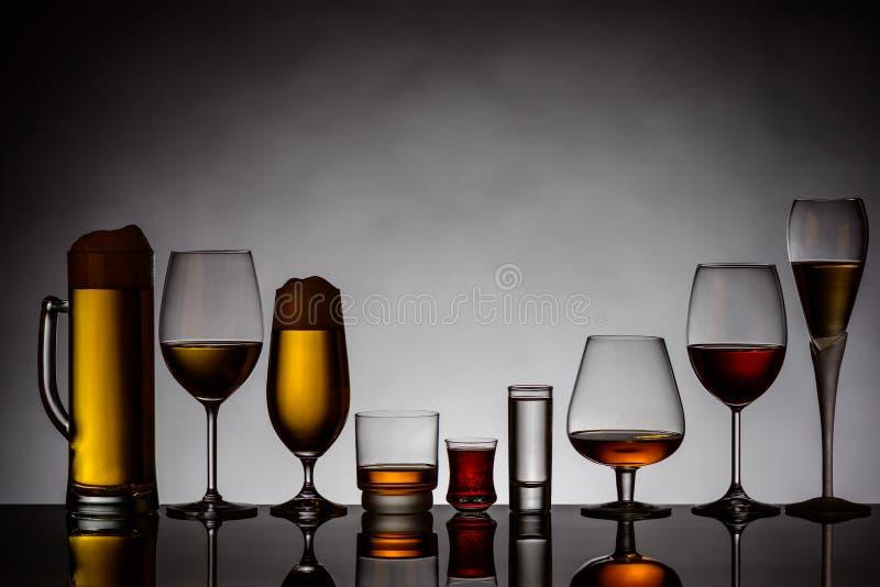 napoje alkoholowe zdjęcia royalty free