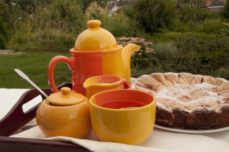 napoje bawją się relaksującej herbacianej kobiety fotografia royalty free