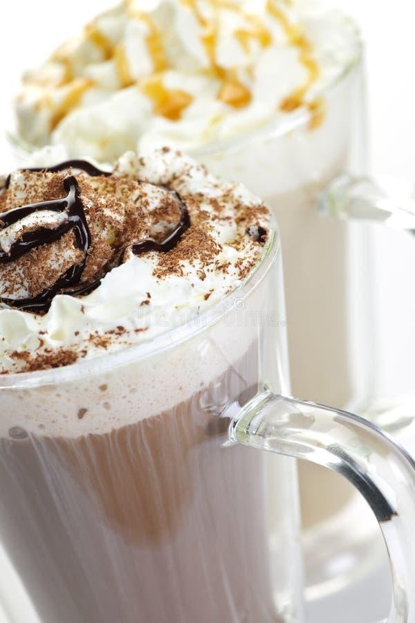 napoju gorący czekoladowy kawowy fotografia royalty free