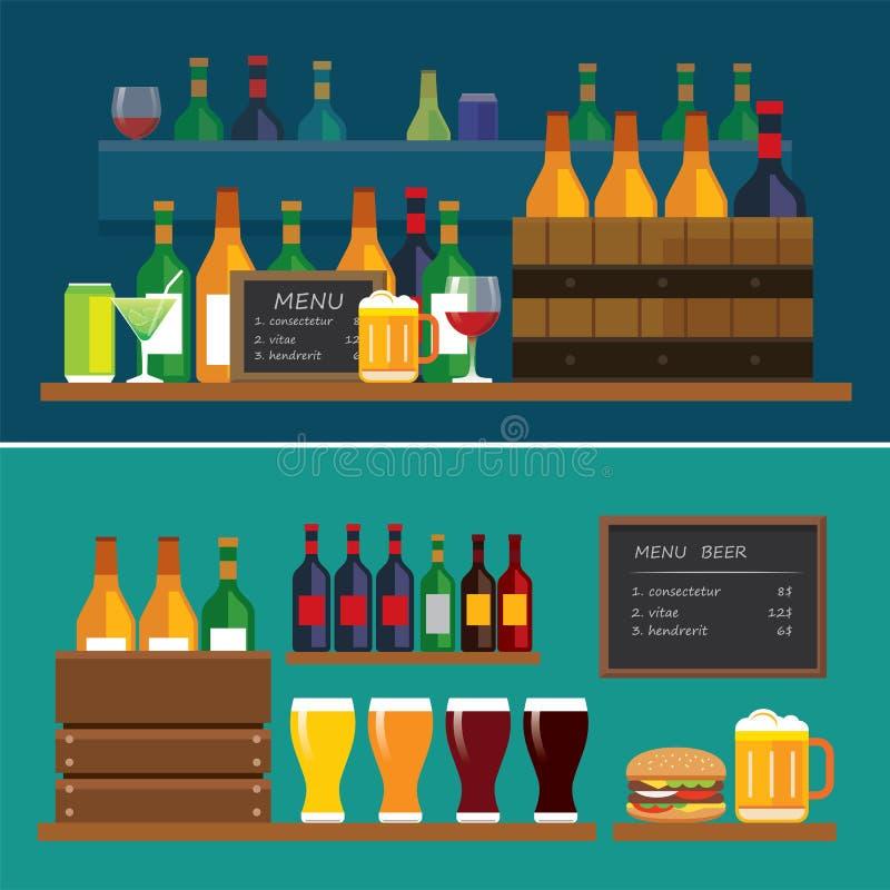 Download Napoju I Piwa Projekta Płaski Sztandar Ilustracja Wektor - Ilustracja złożonej z lager, niepowodzenia: 57650258
