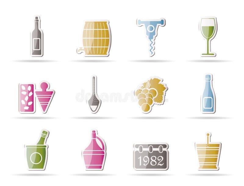 napoju ikon wino royalty ilustracja