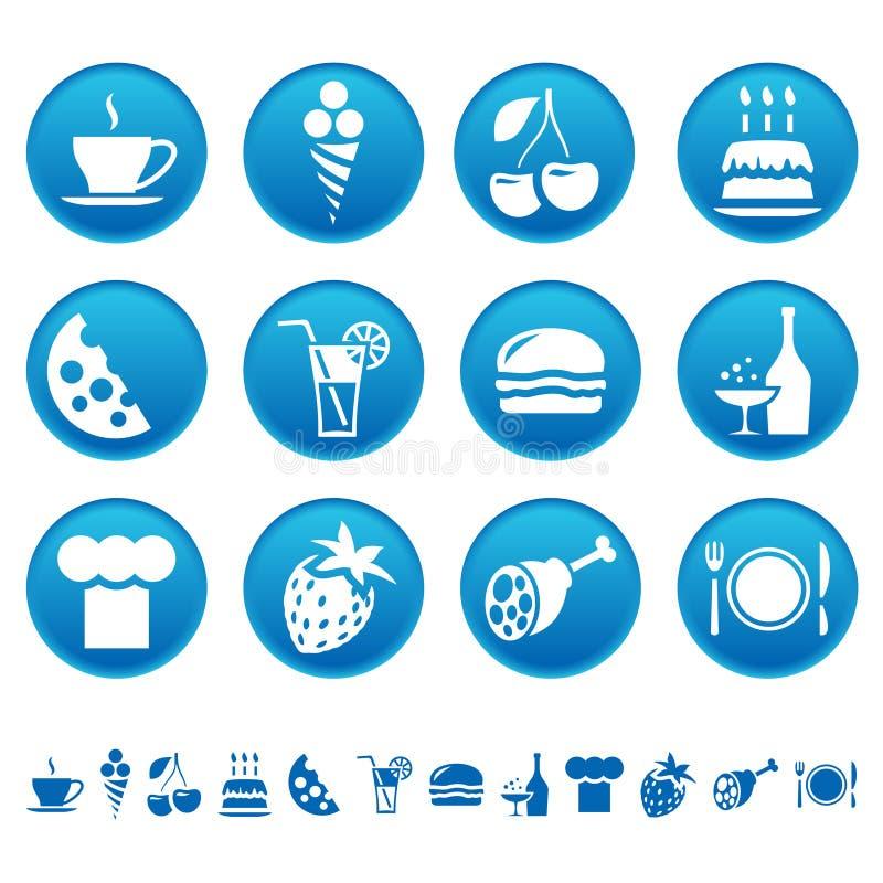 napoju jedzenia ikony royalty ilustracja