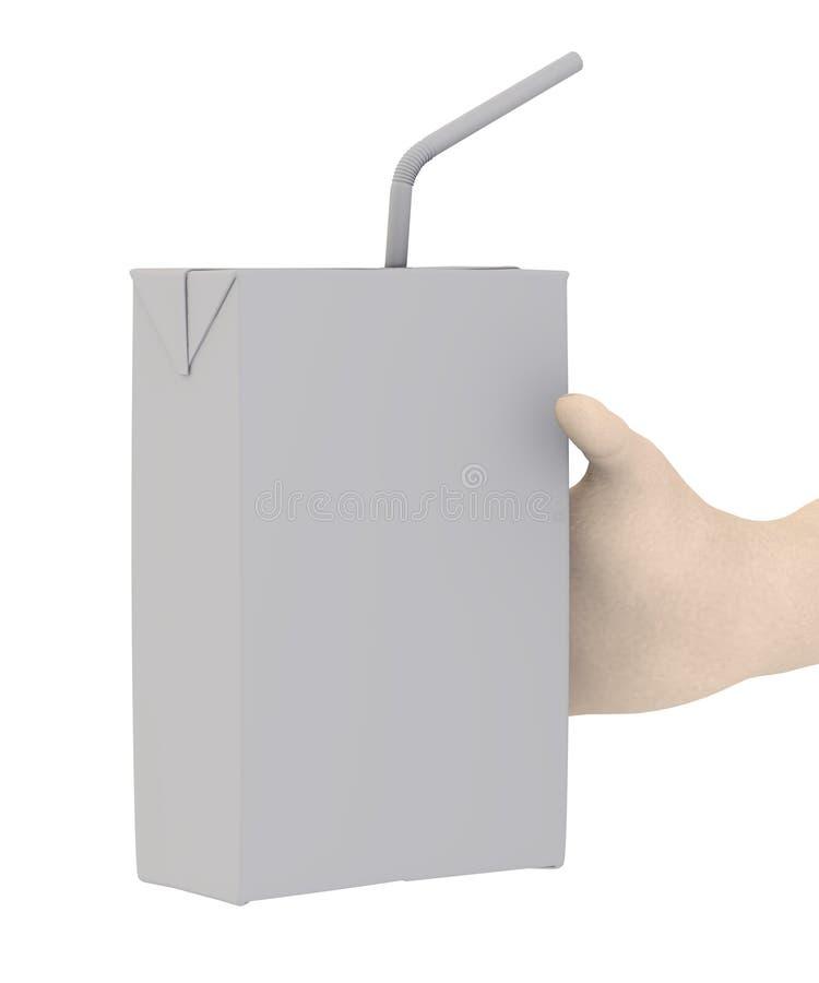 Napoju pudełko w ręce ilustracja wektor