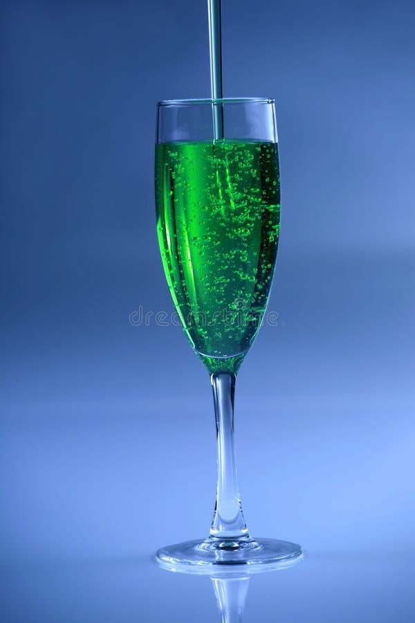 napoju zielony lśnienie zdjęcie stock
