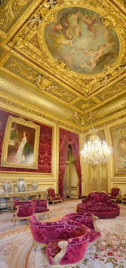 Napoleon ΙΙΙ διαμέρισμα στο μουσείο του Λούβρου στοκ φωτογραφίες