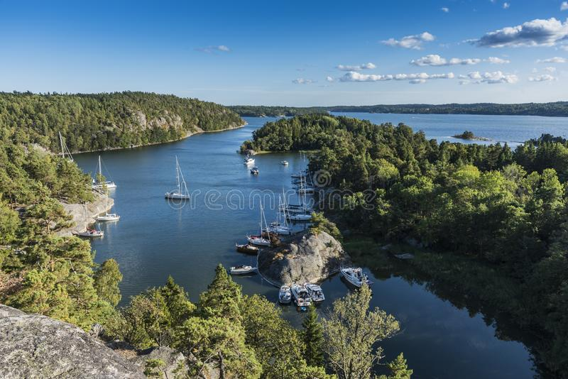Napoleon bay view Stockholm archipelago stock photo