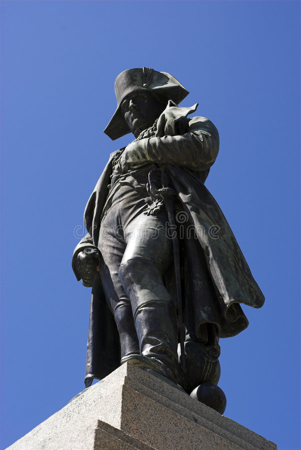 Napoleon from below royalty free stock photo