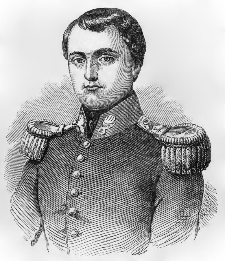 Napoleon Bonaparte. (1769-1821) on engraving from the 1800s. Emperor of France. One of the most brilliant individuals in history, a masterful soldier, an stock images