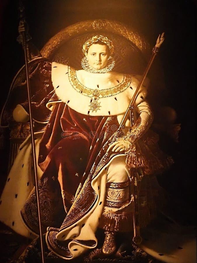 Napoleon Bonaparte 1769-1821 bij de gravure van 1800s Keizer van Frankrijk Één van de briljantste individuen in geschiedenis stock foto