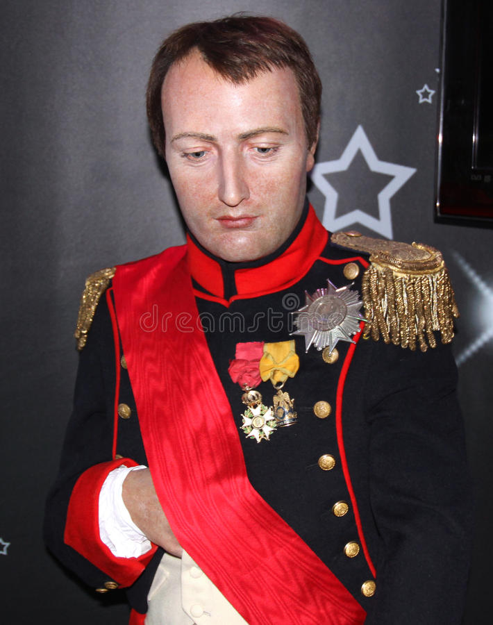 Napoleon Bonaparte at Madame Tussaud's royalty free stock image