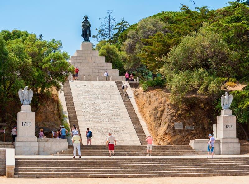 Napoleon Bonaparte Statue dans des Frances d'Ajaccio Corse photographie stock libre de droits