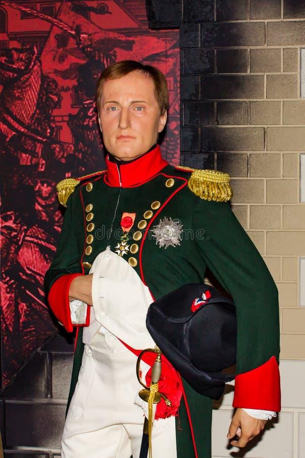 Napoleon Bonaparte vaxstående, museum för madam Tussauds, Wien arkivfoton