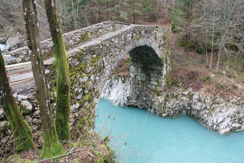 Napoleon Bridge in Slovenia royalty free stock images