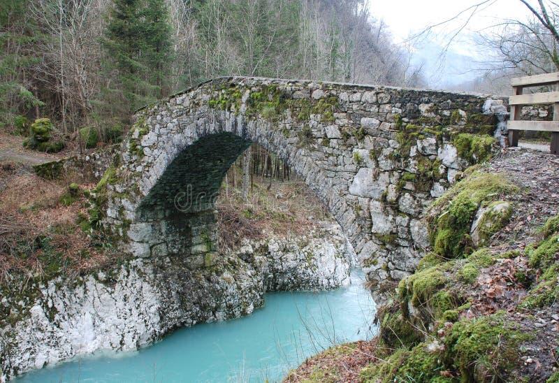 Napoleon Bridge in Slovenia royalty free stock photos