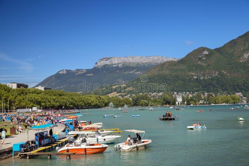 Napoleon III quay na Annecy jeziorze obrazy stock