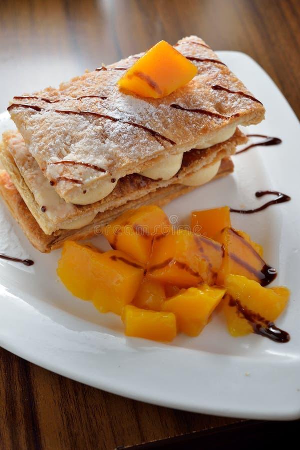 Napoleon Mango Cake immagini stock libere da diritti
