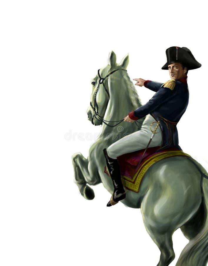 Napoleon på häst vektor illustrationer