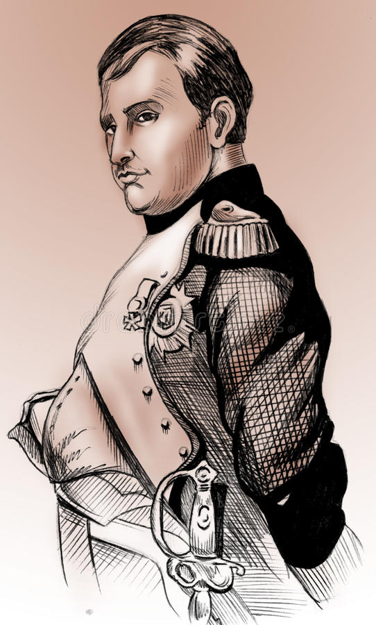 Download Napoleon's portrait stock illustration. Image of commander - 9642744