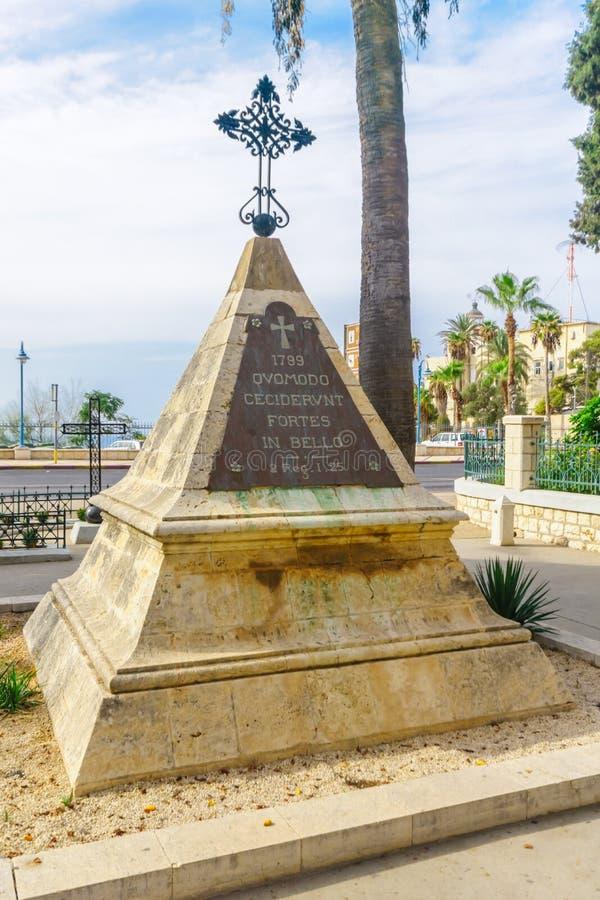 Napoleon Soldiers Monument, Stella Maris, Haifa stock foto