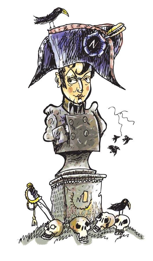 Napoleon. Vencedor. ilustração stock