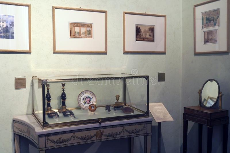 The Napoleonic Museum in Rome, Italy. Room VI - Pauline Bonaparte in the Napoleonic Museum in Rome Italy. This room, dedicated to Pauline Bonaparte Borghese royalty free stock image
