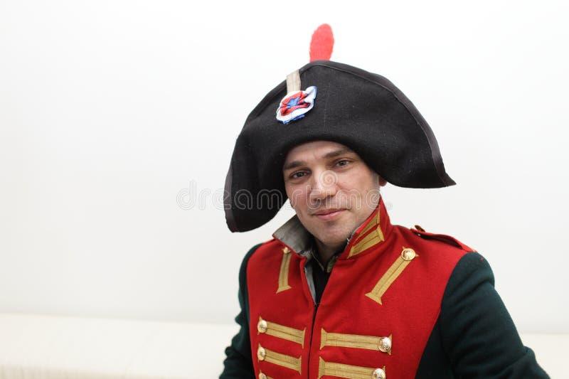 napoleonic soldat royaltyfri bild