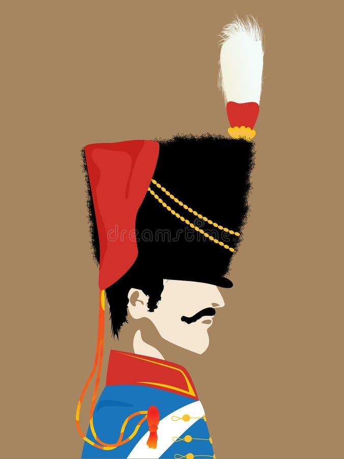 Napoleons armé kommenderar royaltyfri illustrationer