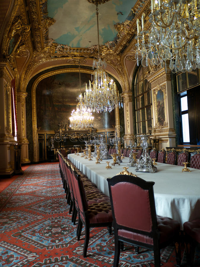 Napoleons kammare i Louvre Paris royaltyfri foto