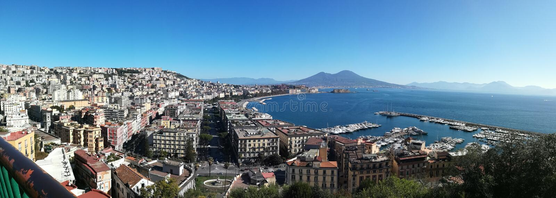 Napoli, amalfitana costiera, Σορέντο, πανόραμα στοκ εικόνες