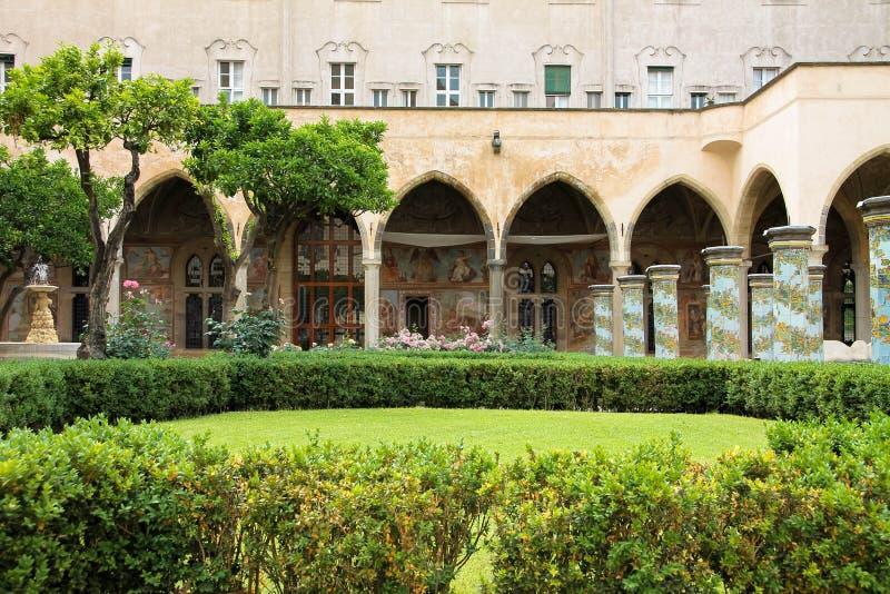 NAPOLI - Chiostro di Santa Chiara (The Santa Chiara Museum Complex). NAPOLI - The Santa Chiara Museum Complex. Set in the historical centre of Naples, near via royalty free stock photos