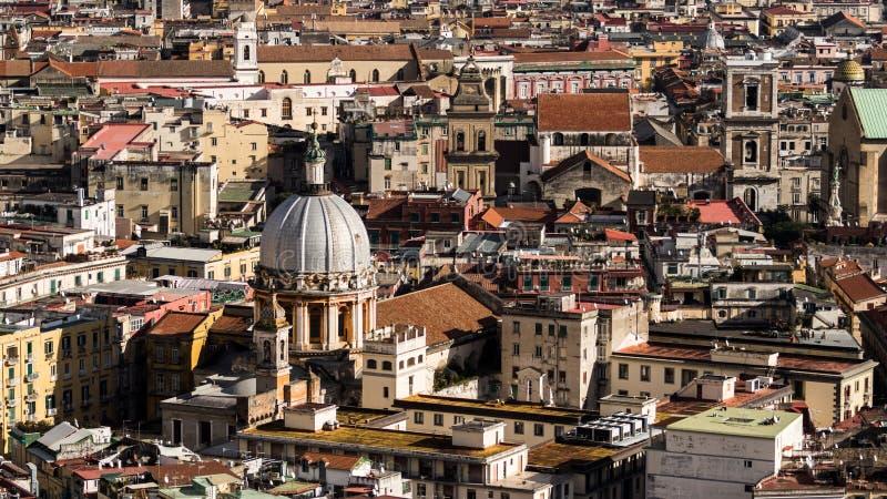 Napoli desde arriba foto de archivo