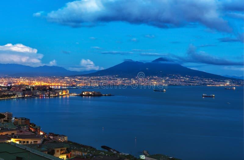 Napoli di notte fotografia stock