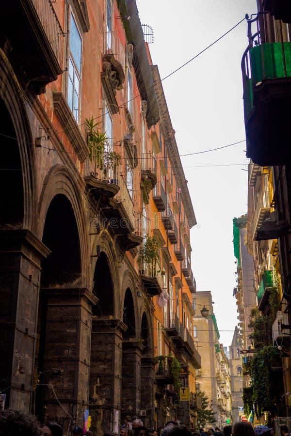 Napoli gata royaltyfri fotografi