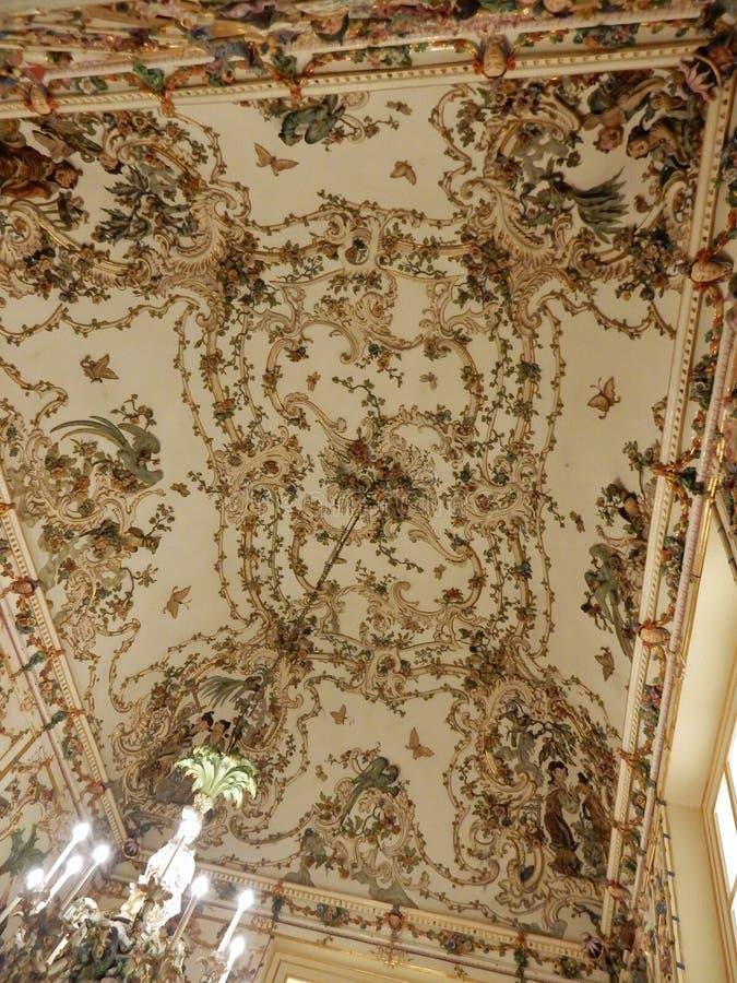 Napoli - plafond de la Chine Salottino photographie stock