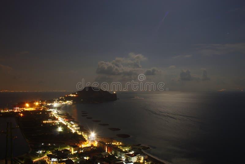 Napoli, vista del Capo Miseno immagine stock