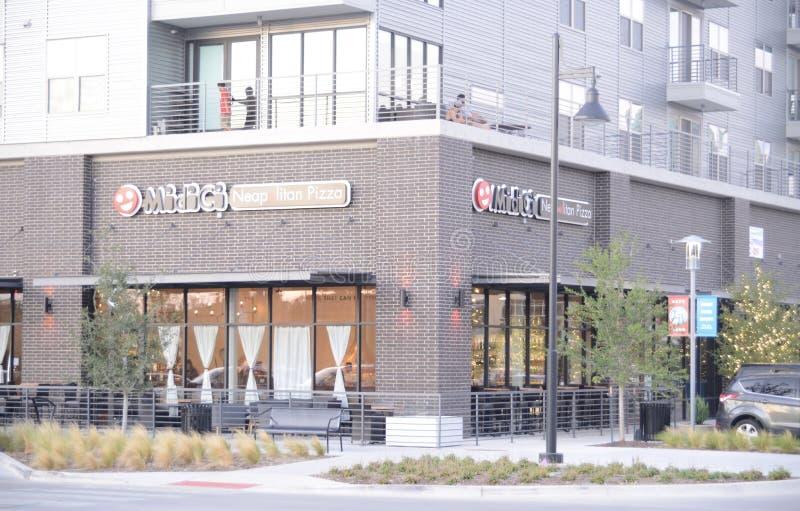 Napolitaanse Pizza, Fort Worth, Texas stock foto