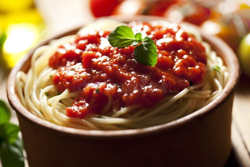 napolitanaspagetti royaltyfria foton