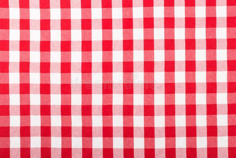 Nappe checkered rouge photos stock