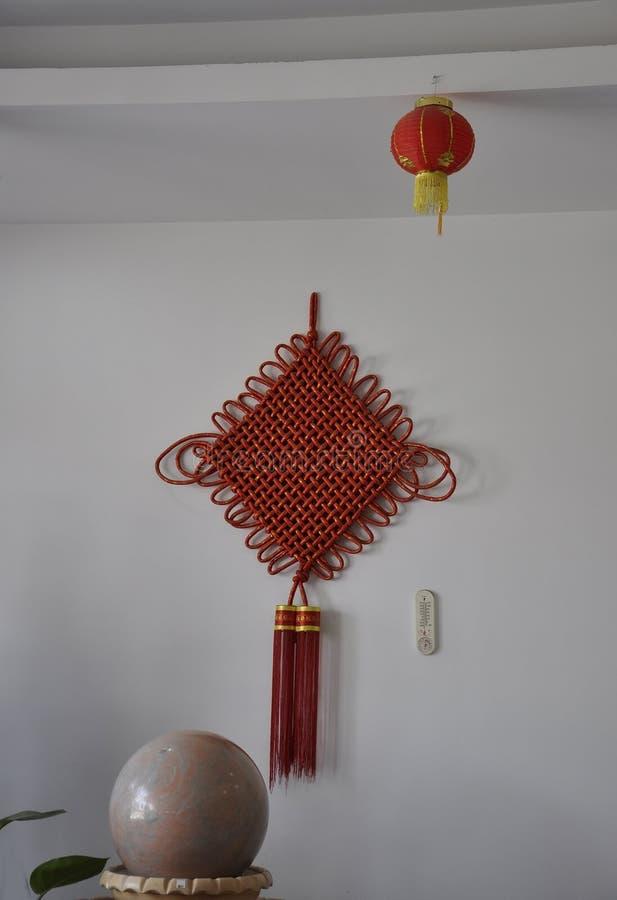 Nappe di seta rosse fortunate cinesi in Jade Factory da Pechino fotografie stock