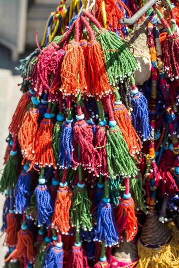 Nappe tradizionali in vari colori fotografie stock