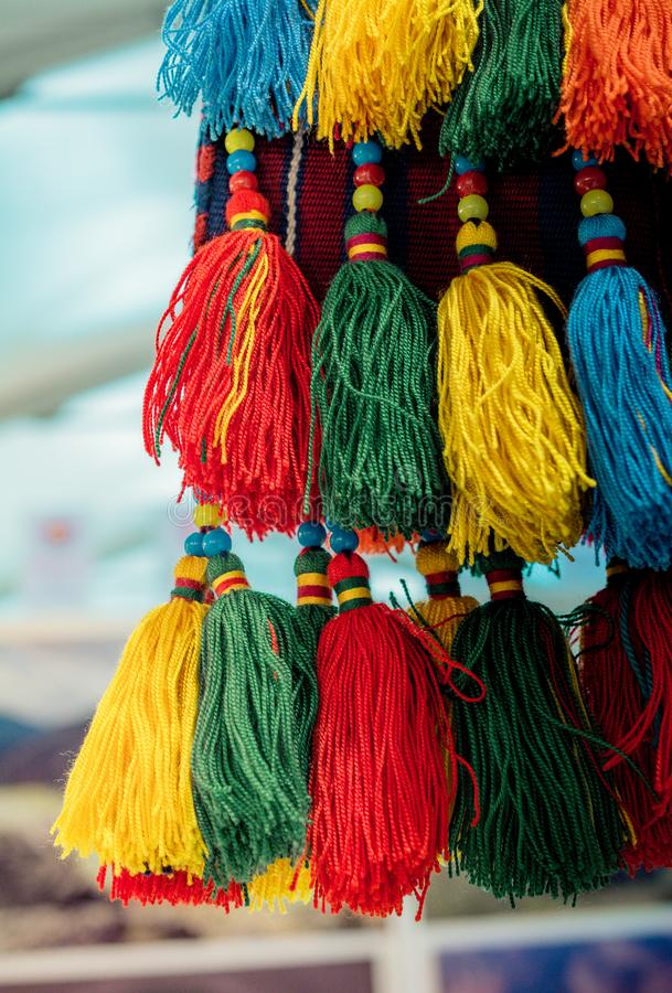 Nappe tradizionali in vari colori fotografie stock libere da diritti