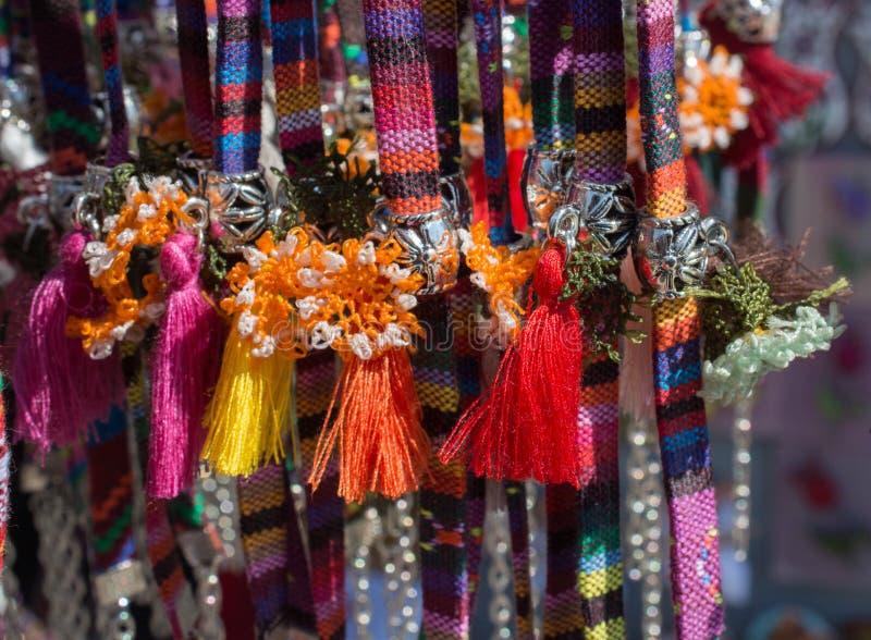 Nappe tradizionali in vari colori fotografia stock