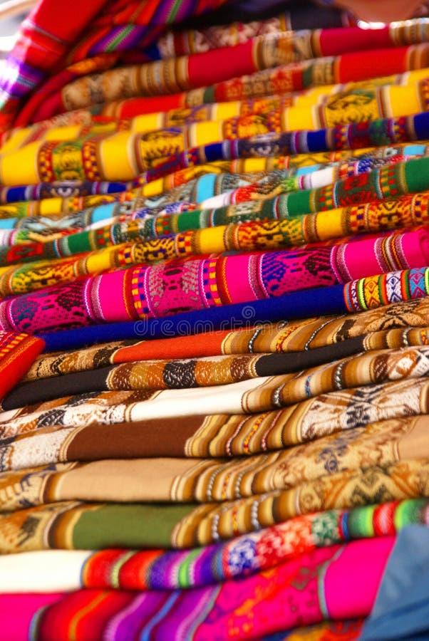 Nappes fabriquées à la main colorées de blankets& images stock