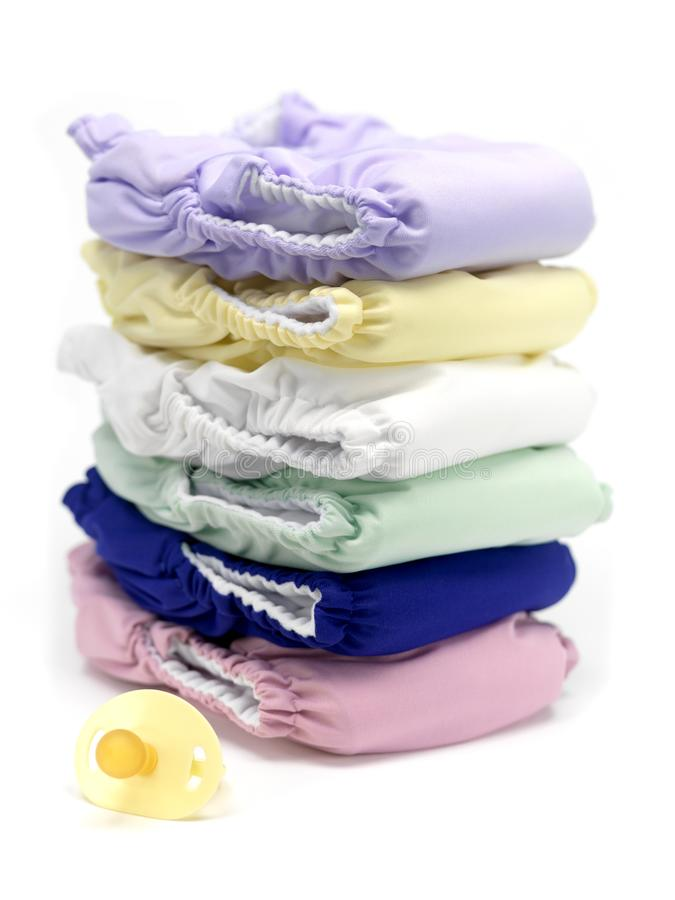 Nappies van de doek stock foto