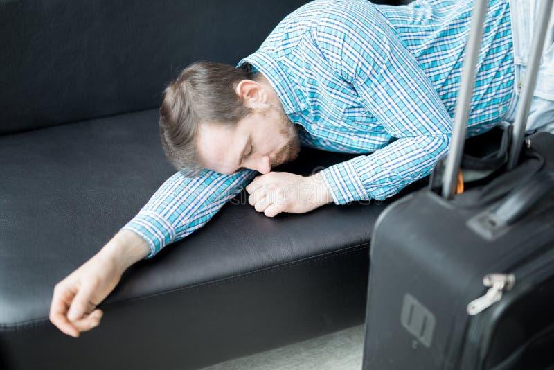 Napping багажем стоковое фото rf