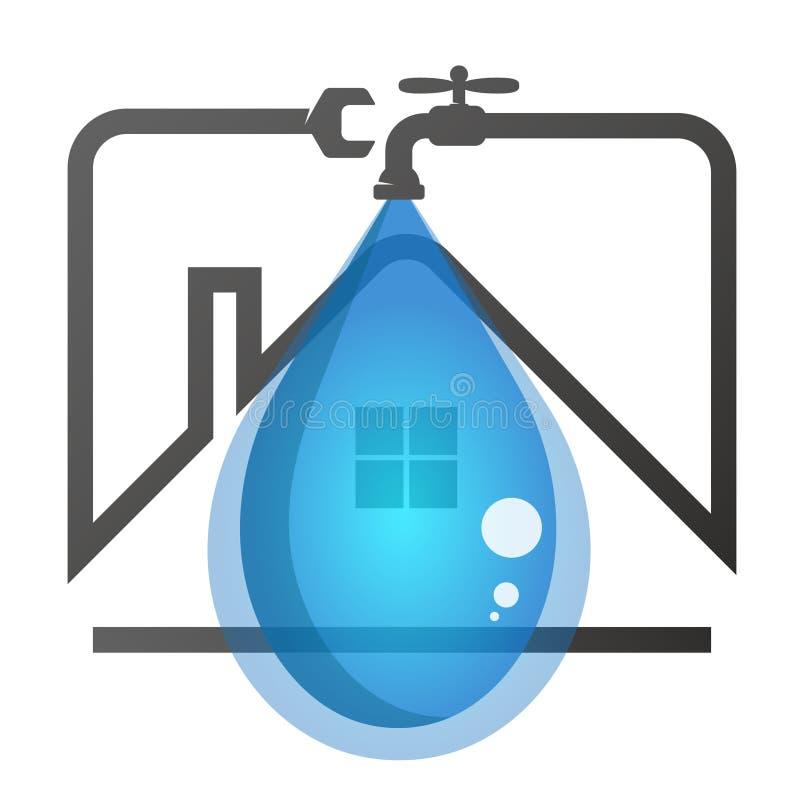 Naprawa instalacja wodnokanalizacyjna w domu ilustracji