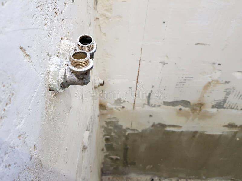 Naprawa w instalacji wodnokanalizacyjnej i łazience fotografia stock