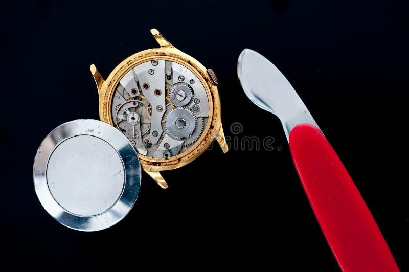 Naprawa zegarki obraz royalty free