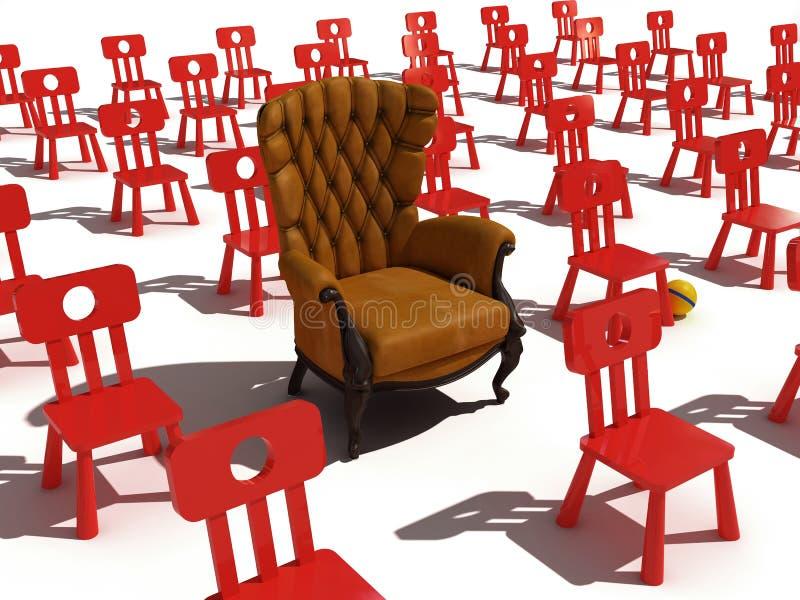 naprawdę fotel ilustracja wektor