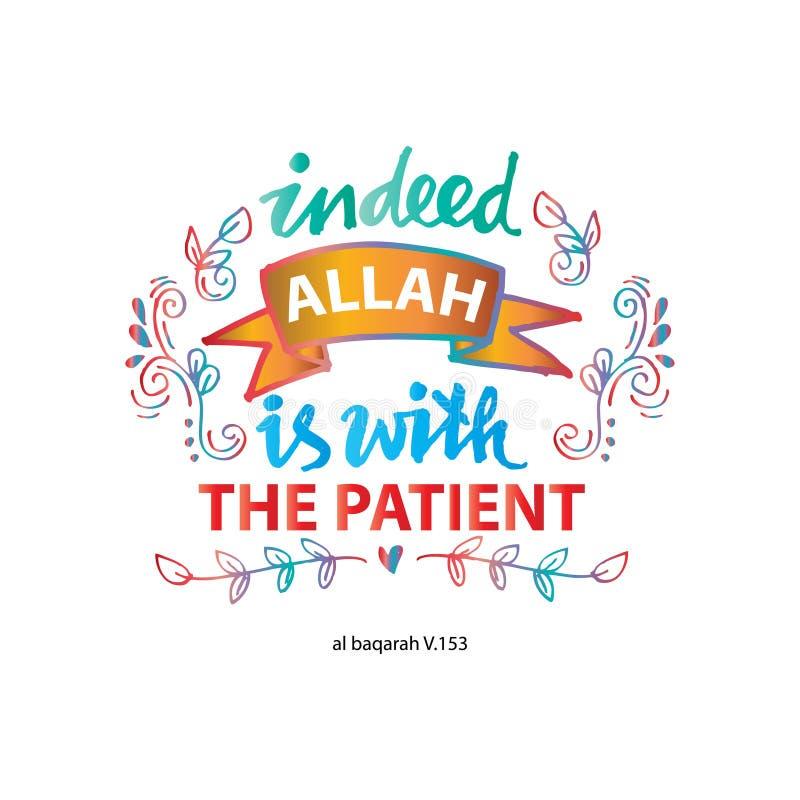 Naprawdę jest z pacjentem Allah royalty ilustracja